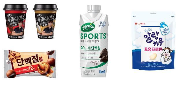 봄날씨에 늘어난 운동족…식음료업계 단백질 제품 인기 '쑥'