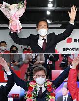 与党惨敗、ソウル25区全てで呉世勲氏が圧勝・・・釜山でも朴亨埈候補が62.76%の得票率