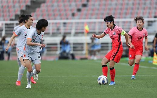韩中女足争夺东京奥运会最后一张入场券