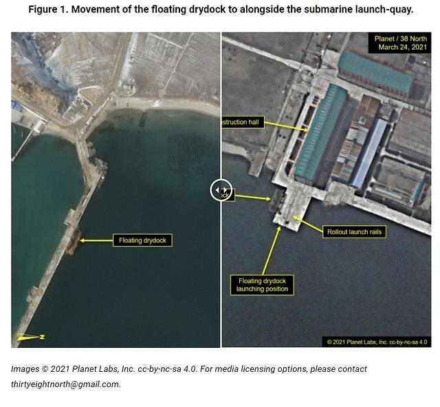 북한, 잠수함 기지 발사통 포착...SLBM 발사 가능성