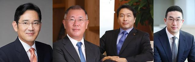 최태원·정의선·구광모, 박용만 회장 퇴임 축하 위해 지난달 회동