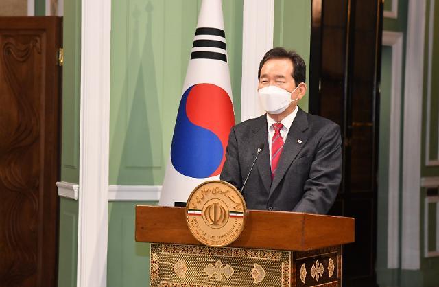 [여당 대권잠룡] ②4년 만에 이란 찾은 정 총리…고위급 인사·한국 기업인 두루 회담