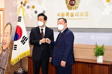 김인호 서울시의회 의장 35층 풀어 부동산 가격 폭등한다면 옳지 않아