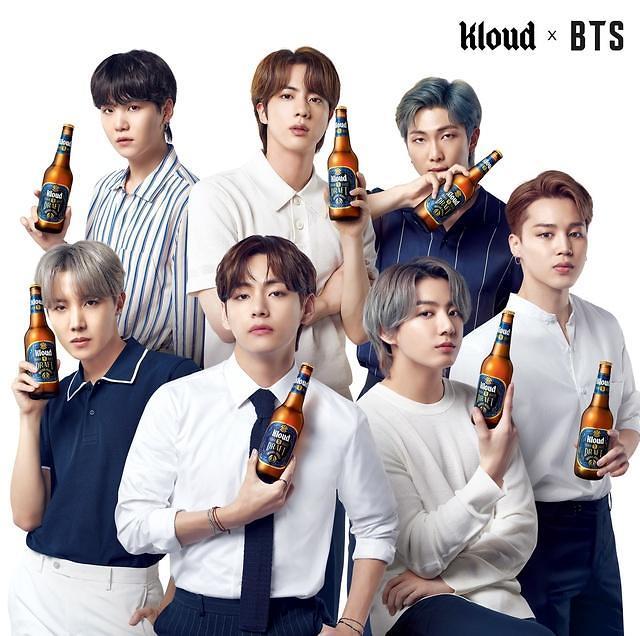 """防弹少年团成七星""""Kloud""""啤酒代言人"""