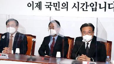 """정진석, 당 대표 불출마 """"야권통합 논의 꼭 성사시켜야"""""""