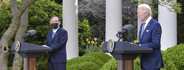 바이든-스가 첫 정상회담... </br>중국·북한 문제 협력하기로
