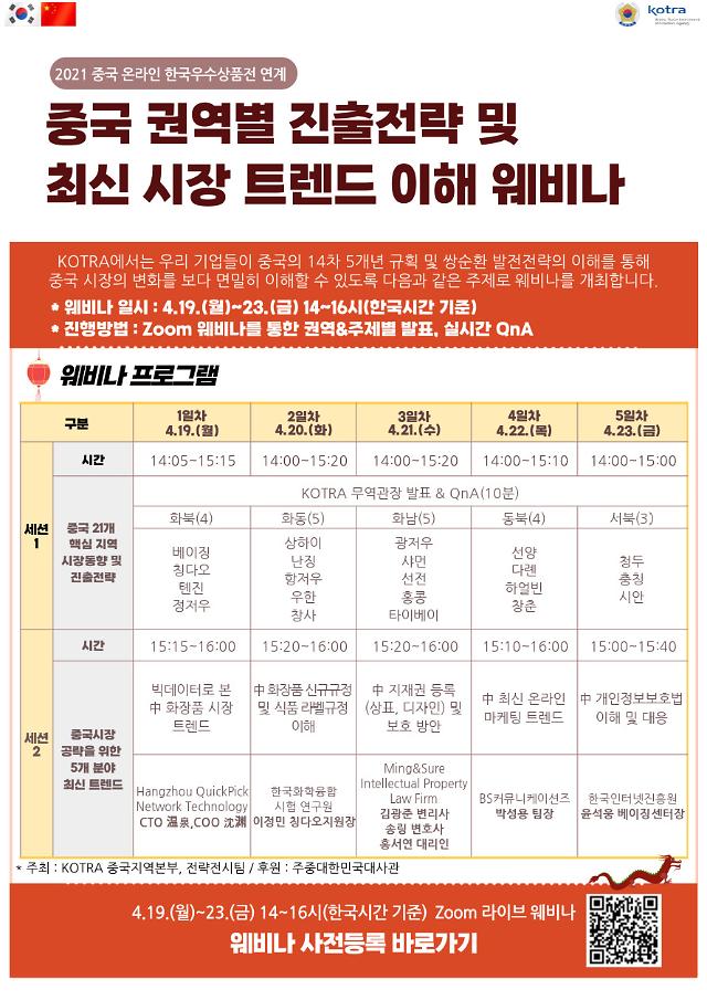 코트라, 중국 수출길 넓힌다...온라인 한국 상품전 개최