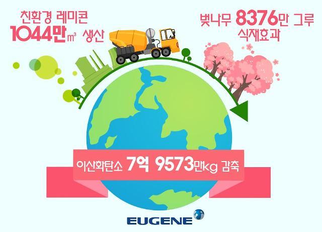 유진기업·동양, 친환경 레미콘 출하량 1000만㎥ 돌파…탄소배출 저감 앞장