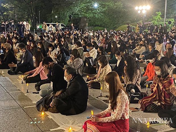 [NNA] 미얀마 시위 희생자 추모집회, 日 도쿄에서 열려