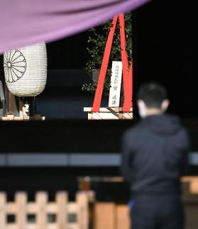 菅义伟向靖国神社供奉祭品