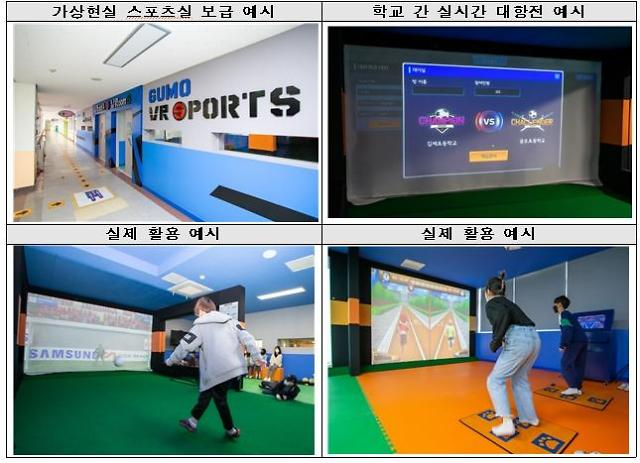 Elementary schools connected thru virtual sports rooms using 5G technology