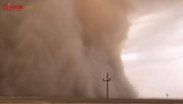 [중국포토]올해도 또...중국, 모래폭풍 비상