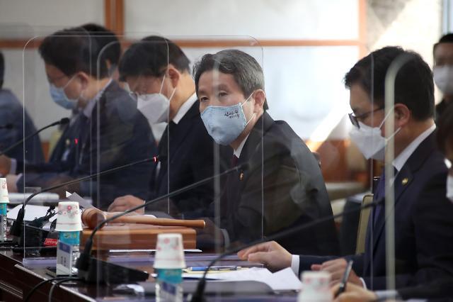 """이인영 장관 """"남북 공동 합의 이행 위한 노력할 것"""""""
