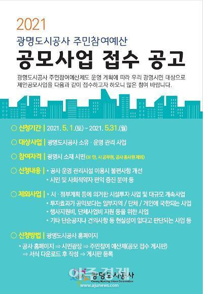 광명도시공사, 공익성·경영책임성 제고 주민참여예산제 운영