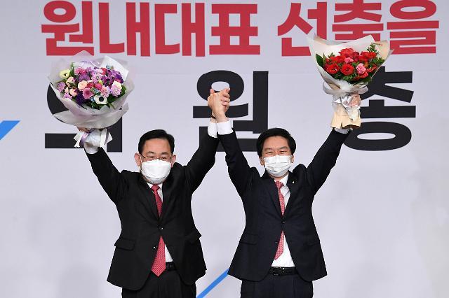 [포토] 국민의힘 새 원내대표에 영남 4선 김기현 의원