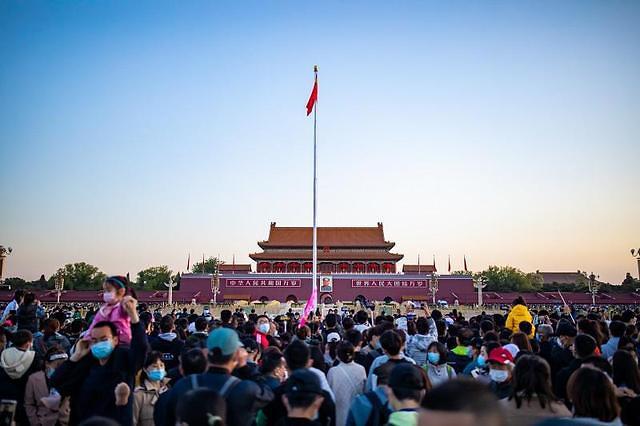 [중국포토]中노동절 연휴 첫날 전국 관광객 5637만명