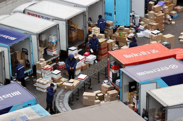 韩国快递费又涨价了!韩进乐天将个人客户邮费上调1000韩元