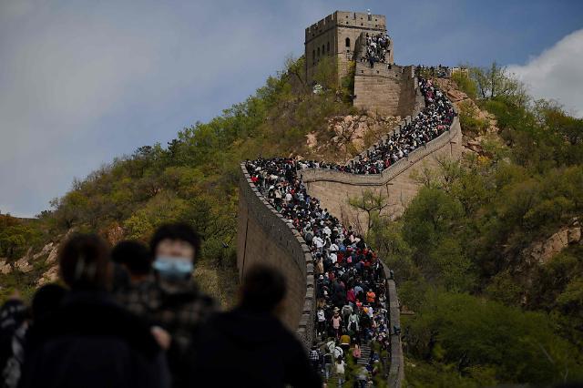 [포토] 노동절 맞아 중국 만리장성에 넘치는 관광 인파