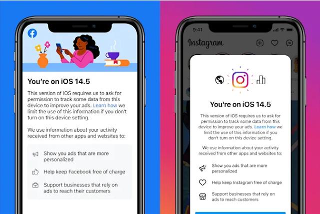 """페이스북·인스타그램, iOS 이용자에 """"앱 이용기록 추적 허용해달라"""" 읍소"""