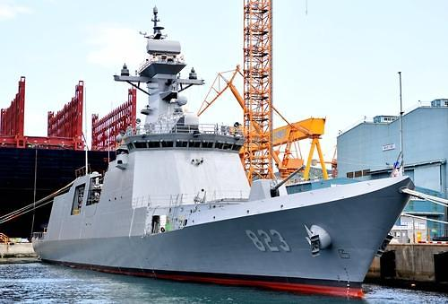 New and 5th 2,800-ton frigate launched at Daewoo shipyard