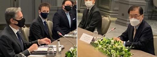 韩外长在伦敦会晤美国务卿布林肯