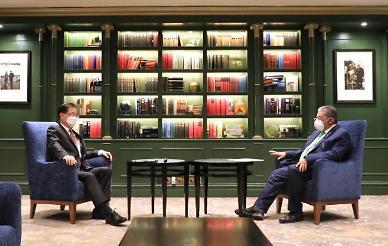 정의용, 브루나이 외교장관과 회담...오늘은 한·미·일 3국 회담