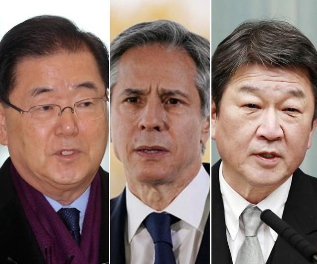 韩美日外长今日伦敦举行会晤 就美国对朝新政交换意见