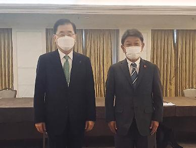 정의용·모테기 첫 양자회담…일본 북핵 문제 협력 의사 밝혀