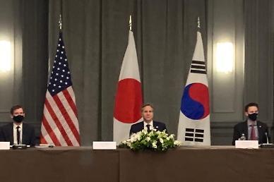 """[미리 보는 한·미 정상회담] ②한·미·일 외교장관, 영국서 조우…""""비핵화 3자 협력"""""""