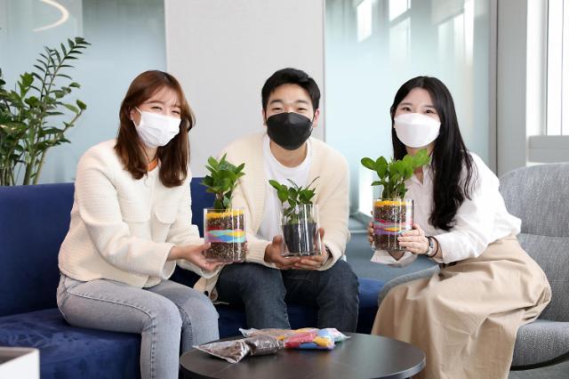현대글로비스, 평택‧울산 홀몸 어르신께 '반려식물' 전달