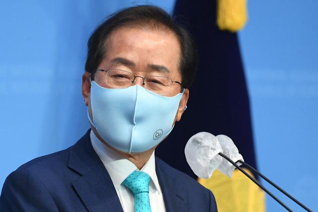 [포토] 홍준표, 국민의힘 복당 신청
