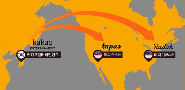 카카오엔터, 북미 웹툰·웹소설 플랫폼 '타파스' '래디쉬' 인수 확정... 미국 공략 박차