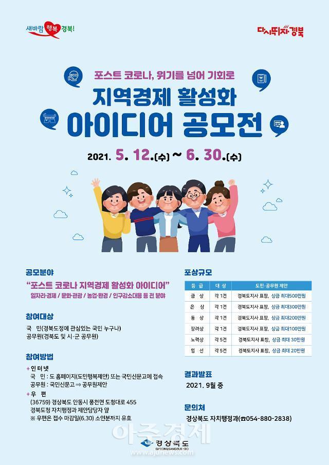 경북도, 지역경제 활성화 아이디어 공모전 개최