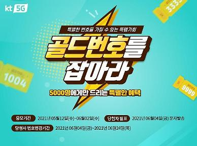 골드번호 5000개 풀린다…KT, 올해 첫 추첨 이벤트 진행