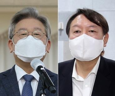 [이주의 여론조사] 이재명 vs 윤석열 승부···누가 웃었을까