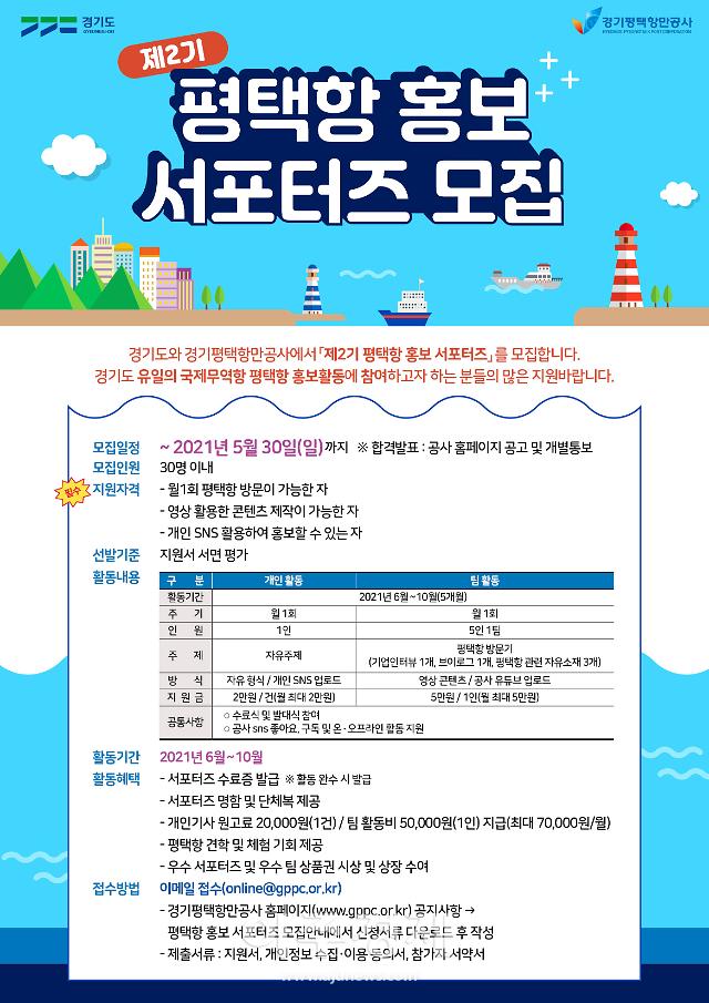 경기평택항만공사, 평택항 홍보 서포터즈 모집···30명 최종 선발