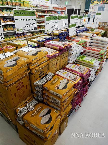 인도 식재료 슈퍼 암비카 매장 내부