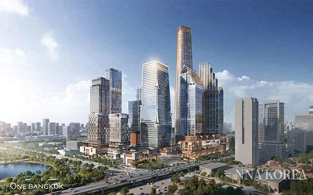 대형 복합시설「원 방콕」의 외관 이미지