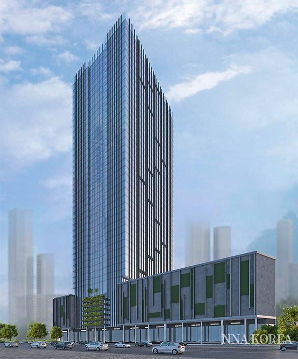 서부 뭄바이의 대형 복합시설 「오르티모스」의 외관 이미지
