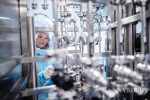 독일 마르부르크 비온텍의 mRNA형 백신 제조 설비