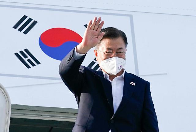文在寅结束访美行程返回韩国