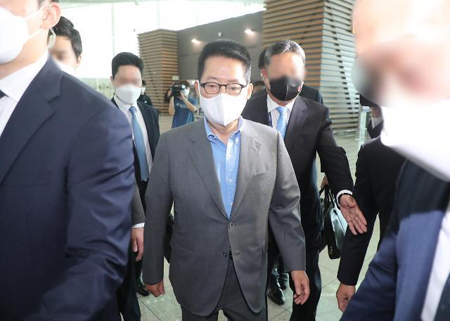 박지원, 방미 위해 출국...정상회담 후속조치·北반응 논의