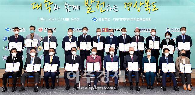 경북도, 대구·경북 대학 총장 한자리에...상호협력 협약식 가져