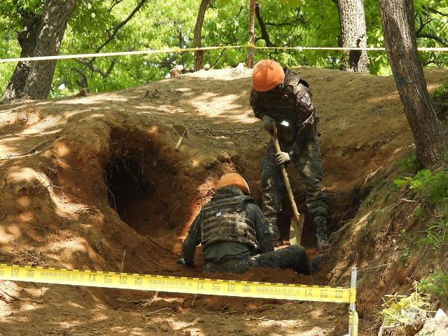 국방부, DMZ서 6·25전쟁 전사자 유해 28점 발굴