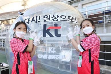 KT, 월드컵 2차 예선에서 '버블 키즈 에스코트' 선보여