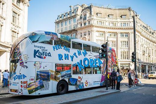 韩国旅游宣传巴士亮相伦敦