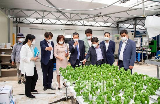 안산시의회, 정례회 기간 중 지역 스마트팜 현장활동 펼쳐