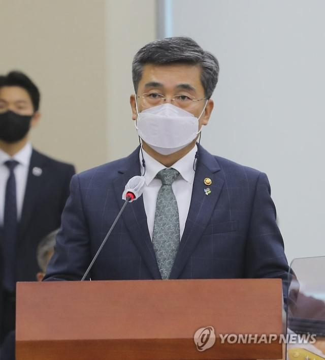 서욱 국방, 공군 女중사 사망 사건 사과...피해자 사망 18일만