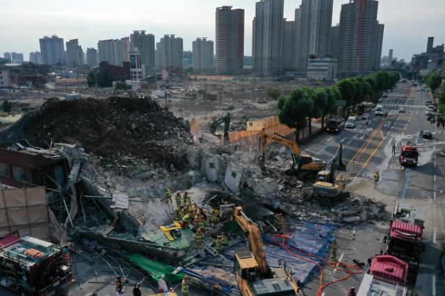 [포토] 광주 학동 건물 붕괴