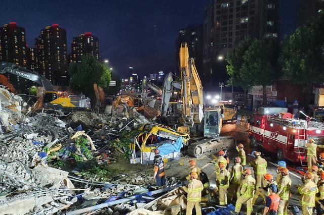 光州拆迁建筑倒塌事件已致9人丧生